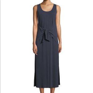 Vince Sleeveless Navy Wrap Dress